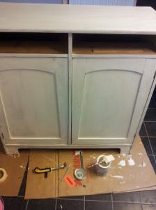 Fix av möbler innan inflytt i huset